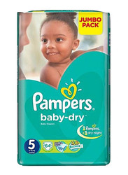 Pampers Active Baby Dry Diapers, Size 5, 11-25 kg, Jumbo Pack, 64 Count