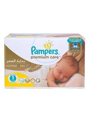 Pampers Premium Care Diapers, Size 1, Newborn, 2-5 kg, Mega Box, 112 Count