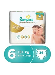 Pampers Premium Care Diapers, Size 6, 15+ kg, Value Pack, Pack of 2, 72 Count