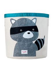 3 Sprouts Storage Bin, Raccoon, Grey