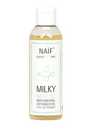 Naif Milky Bath Oil, 100ml, White