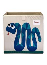 3 Sprouts Storage Box, Snake, Dark Blue