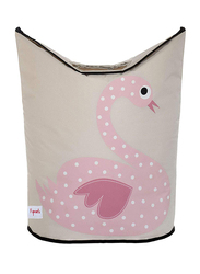3 Sprouts Laundry Hamper, Swan, Pink