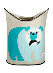 3 Sprouts Laundry Hamper, Polar Bear, Blue