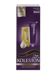 Wella Koleston Hair Color for All Hair Types, 304/0 Medium Brown, 50ml