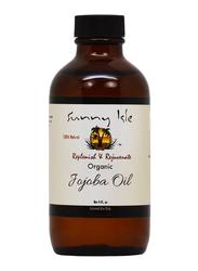 Sunny Isle Organic Jojoba Oil for All Hair Types, 4oz