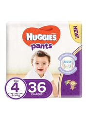 Huggies Active Baby Pants Diapers, Size 4, 9-14 kg, 36 Count