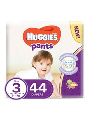Huggies Active Baby Pants Diapers, Size 3, 6-11 kg, 44 Count