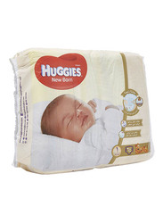 Huggies New Born Diapers, Size 1, Newborn, Up to 5 kg, Carry Pack, 64 Count