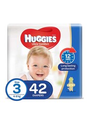 Huggies Ultra Comfort Superflex Economy Diapers, Size 3, 4-9 kg, 42 Count