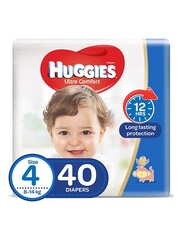 Huggies Ultra Comfort Superflex Economy Diapers, Size 4, 8-14 kg, 40 Count