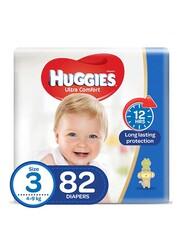 Huggies Ultra Comfort Superflex Jumbo Diapers, Size 3, 4-9 kg, 82 Count