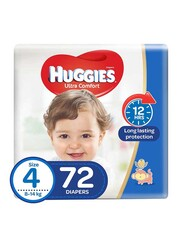 Huggies Ultra Comfort Superflex Jumbo Diapers, Size 4, 8-14 kg, 72 Count