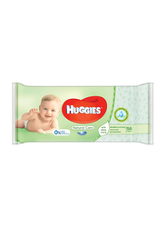 Huggies Natural Care Aloe Baby Wipes for Newborn, 56 Pieces