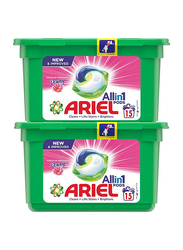 Ariel Downy Touch of Freshness All In 1 Pods Washing Liquid Tablets, 2 x 397g