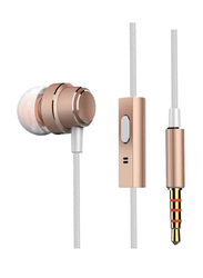 Anker SoundBuds Mono In-Ear Noise Cancelling Earphone with Mic, Rose Gold
