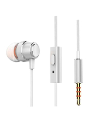 Anker SoundBuds Mono In-Ear Noise Cancelling Earphone with Mic, Silver