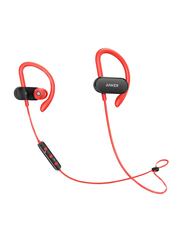 Anker SoundBuds Curve Wireless Bluetooth On-Ear Noise Cancelling Headset with Mic, Red