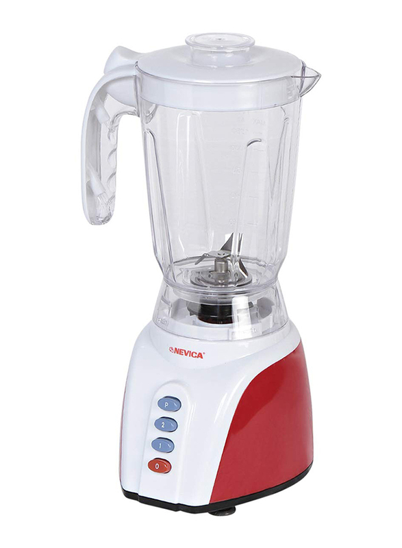 Nevica 1.5L 3 in 1 Blender, 400 W, NV-643 BG, White/Red