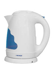 Nevica 1.7L Cordless Electric Kettle, 2200W, NV-351CK, White/Blue