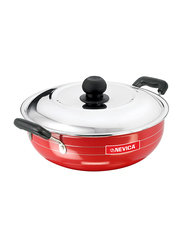 Nevica 2.5Ltr Nonstick Kadai, NV-2117K, Red/Black