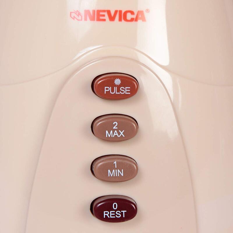 Nevica 1.5L 2 in 1 Blender, 400 W, NV-642 BG, Clear/White