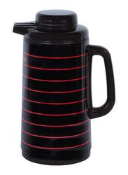 Nevica 1.3 Ltr Plastic/Glass Thermos Flask, NV-6079, Black