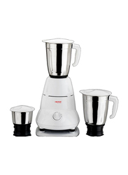 Nevica Stainless Steel 3 Jars Indian Mixer Grinder, 550W, NV-651 SS, White