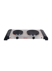 Nevica Deluxe Double Hot Plate Gas Stove, 1000W, NV-769EC, Silver/Black