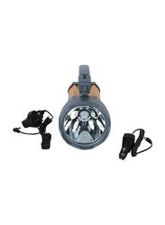 Nevica Rechargeable Hi-Power Spot Light with COB Light, Orange/Grey