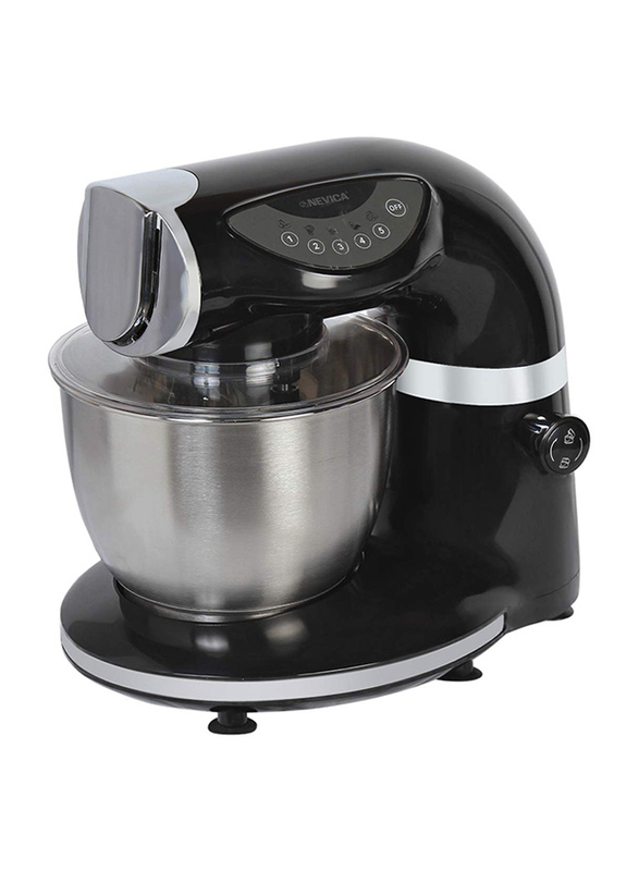 Nevica Plastic Commercial Kitchen Stand Mixer, with Touch Pad, 1000W, NV-156, Black/White