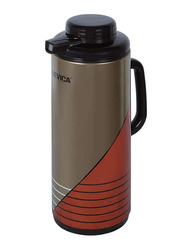 Nevica 1.6 Ltr Glass Liner Flask, NV-6037, Brown/Orange