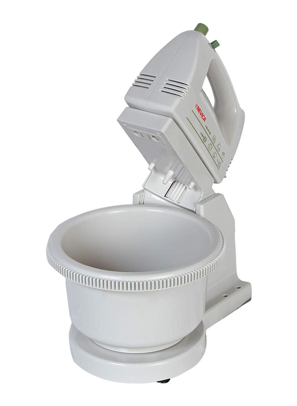 Nevica Plastic Mixer, with Stand and Bowl, 150W, NV-150, White