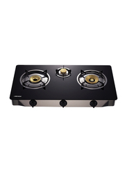 Nevica 3 Burner Gas Stove, NV-847GS, Black
