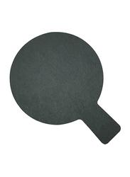 Raj 19cm Stoneware Slate Paddle Round Board, SL0018, 19x14 cm, Grey