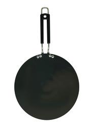 Raj 28cm Anodized Concave Tawa, BBAT11, Black