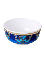 Dinewell 4-inch Melamine Royal Decor Bowl, DWB5007RD, White/Blue