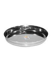 Raj 31cm Steel Sada Thali, TS0014, Silver