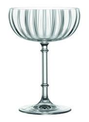 Lucaris 205ml 6-Piece Set Rims Orient Saucer Glass, LS13SC07, Clear