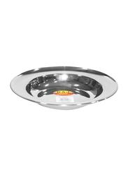 Raj 25cm Steel Soup Plate, SP0011, Silver
