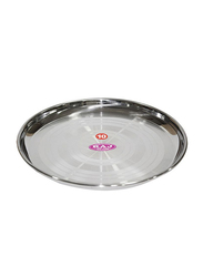 Raj 18cm Silver Touch Steel China Plate, STCP08, Silver