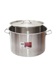 Chefset 70cm Steel Cooking Pot with Lid, CS5075, 70x46 cm, 173 Ltr, Silver
