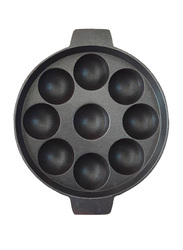 Raj 18cm Non-Stick Appackara, KA0001, 9 Kulli, Black/Red