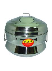 Raj Small 9 Count 3-Part Steel Iddly Pot, KKIP0S, Silver