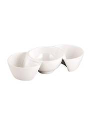 Dinewell Regular Trio Dish, DWC2123W, Regular, White