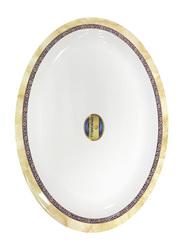 Dinewell 34cm Hotensia Melamine Oval Platter, DWR5012HO, White