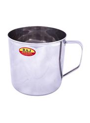 Raj 8cm Steel Deluxe Mug, NM0008, Silver