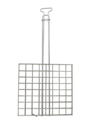 Raj Small Catering Grill Meat Holder, CGMH01, 27x27 cm, Silver