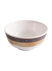 Dinewell 3.5-inch Melamine Hotensia Non-Stick Bowl, DWB5006HO, White/Brown