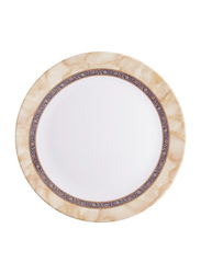 Dinewell 7.5-inch Hotensia Melamine Side Plate, DWHP3090HO, White/Beige